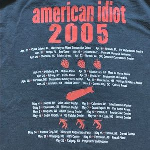 Fruit of the Loom Shirts - Green Day 2005 American Idiot Tee